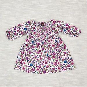 Tea Collection Floral Print Long Sleeve Dress